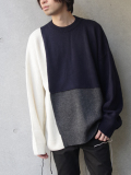 "【2019AW】 wizzard (ウィザード)  ""BLOCKED OVERSIZED KNIT"" <ニット>"