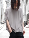 "wizzard (ウィザード)  ""WIDE SUMMER KNIT TEE"" <サマーニット> - GRAY"