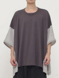 "wizzard (ウィザード)  ""DOCKING WIDE CUTSEW 19SS"" <カットソー> - CHARCOAL×GRAY"