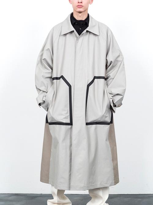 "【18AW】 SOE (ソーイ)  ""2 Tone Top Coat"" <ステンカラーコート>"