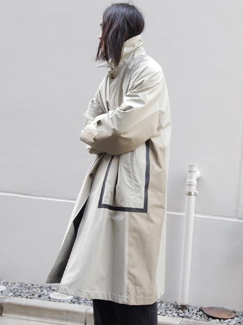 """soe (ソーイ)  """"2 Tone Top Coat"""" <ステンカラーコート>"""