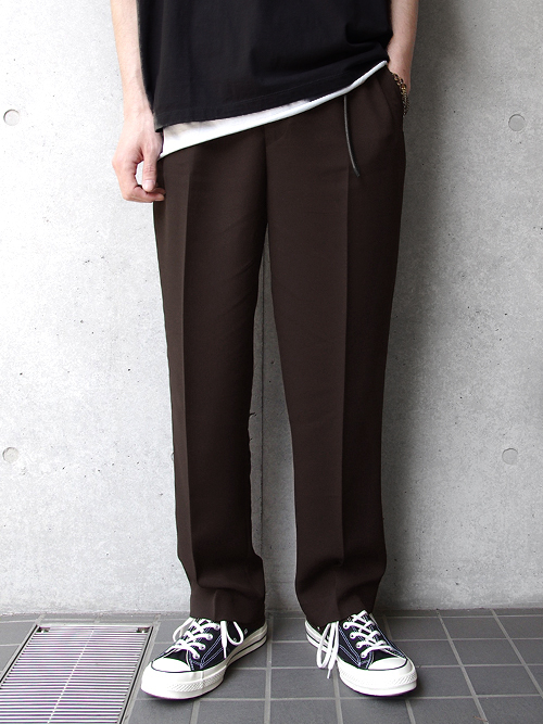 "【18AW】 SOE (ソーイ)  ""Sport Slacks"" <スポーツスラックス> - BROWN"
