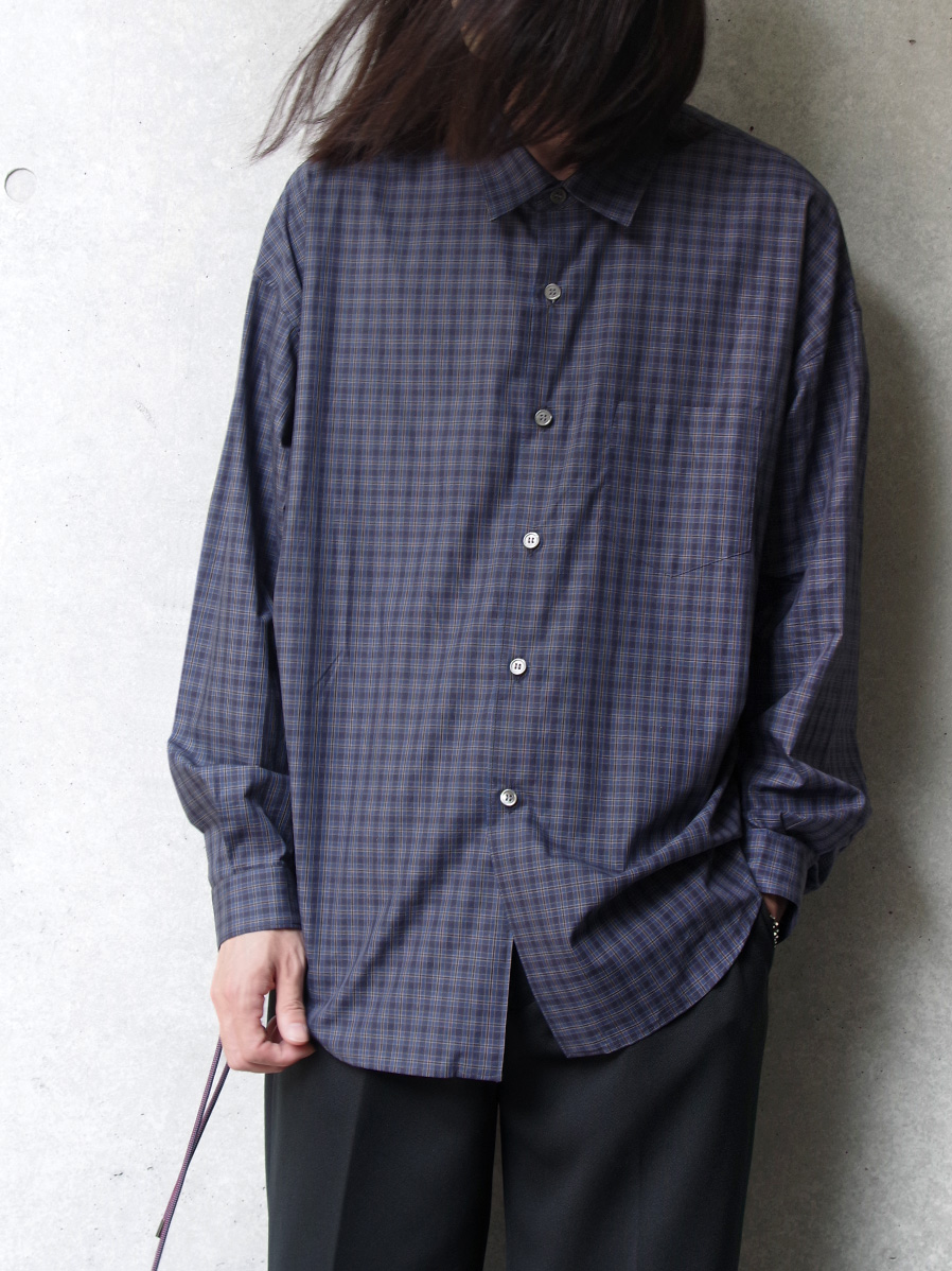 "【19AW】 soe (ソーイ)  ""Side Drawstring Checked Shirt"" <チェックシャツ>"