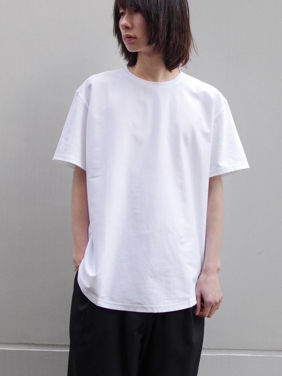"""LAST 1.【19SS】 soe (ソーイ)  """"ROUND HEM TALL T"""" <Tシャツ/カットソー> - WHITE"""