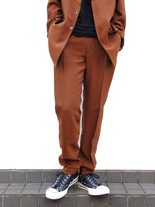 "【19SS】 soe (ソーイ)  ""Chambray Slacks Easy Fitting"" <イージースラックス> - BROWN"