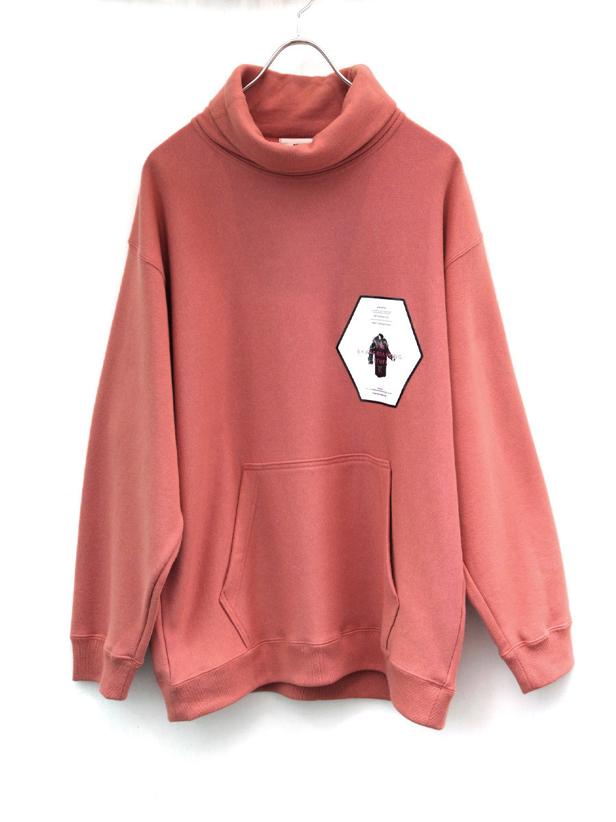 "【20AW】 soe (ソーイ)  ""SKATEBOARDING NECKWARM SWEAT"" <スウェット> - PINK BEIGE"