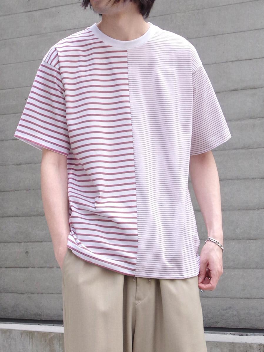"""【20SS】 soe (ソーイ)  """"Swiching H/S Tee"""" <Tシャツ/カットソー> - WHITE×PINK"""