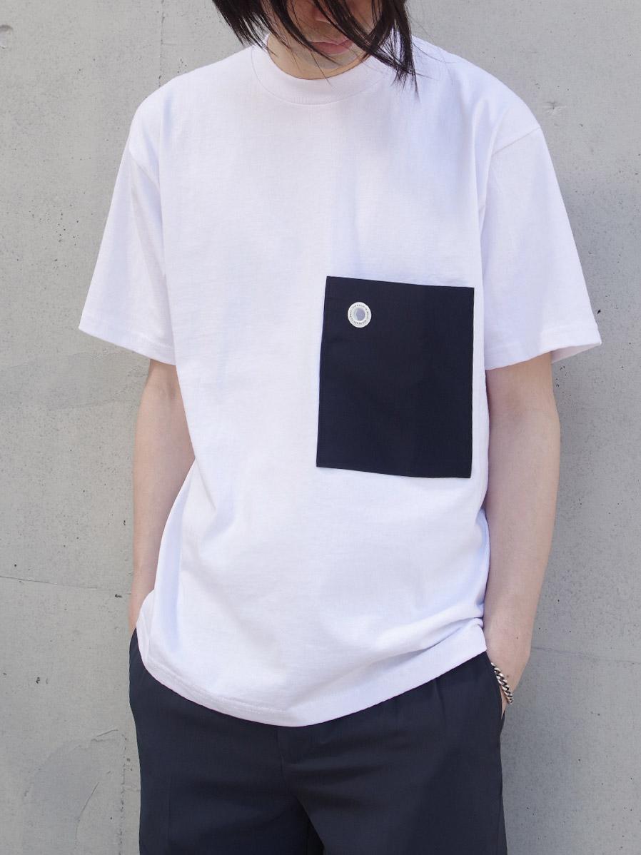 """【20SS】 soe (ソーイ)  """"H/S Tee with Pocket"""" <Tシャツ/カットソー> - WHITE"""