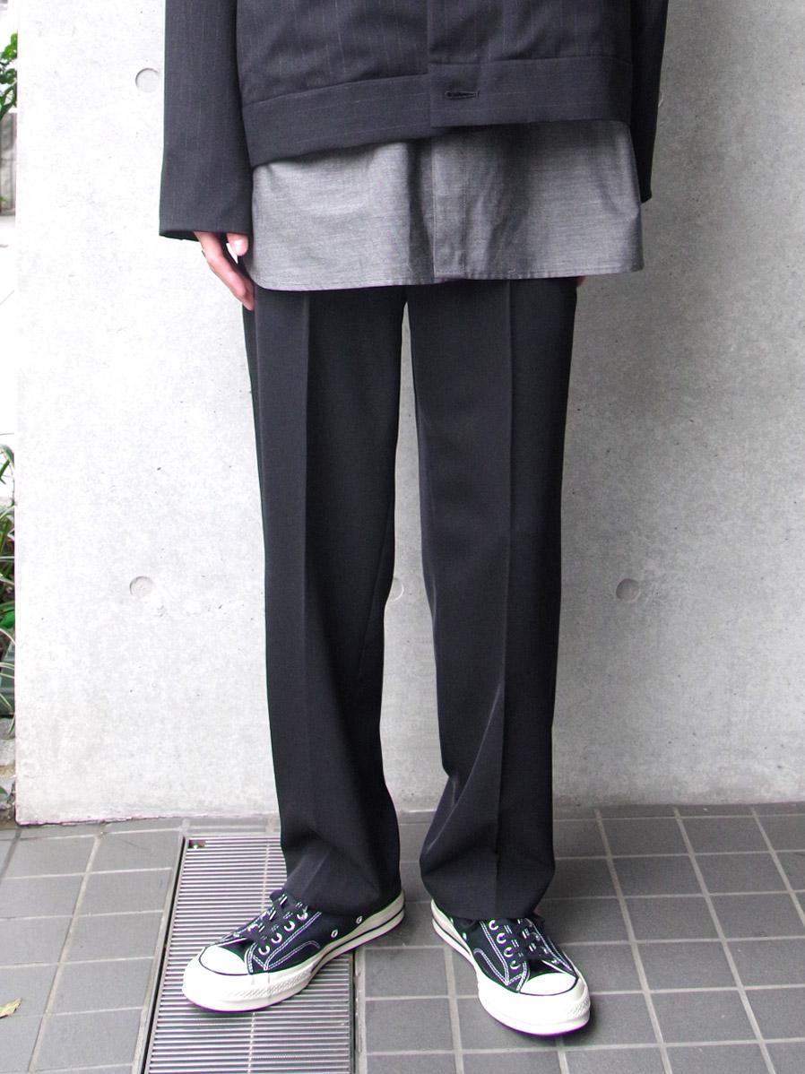 """【20SS】 soe (ソーイ)  """"Sport Slacks"""" <スラックス> - BLACK"""