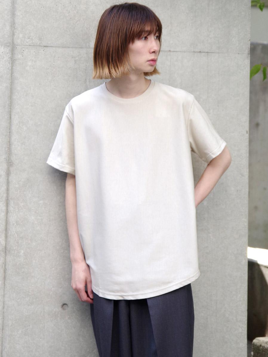 "【21SS】 soe (ソーイ)  ""ROUND HEM TALL T"" <Tシャツ/カットソー> - LIGHT BEIGE"