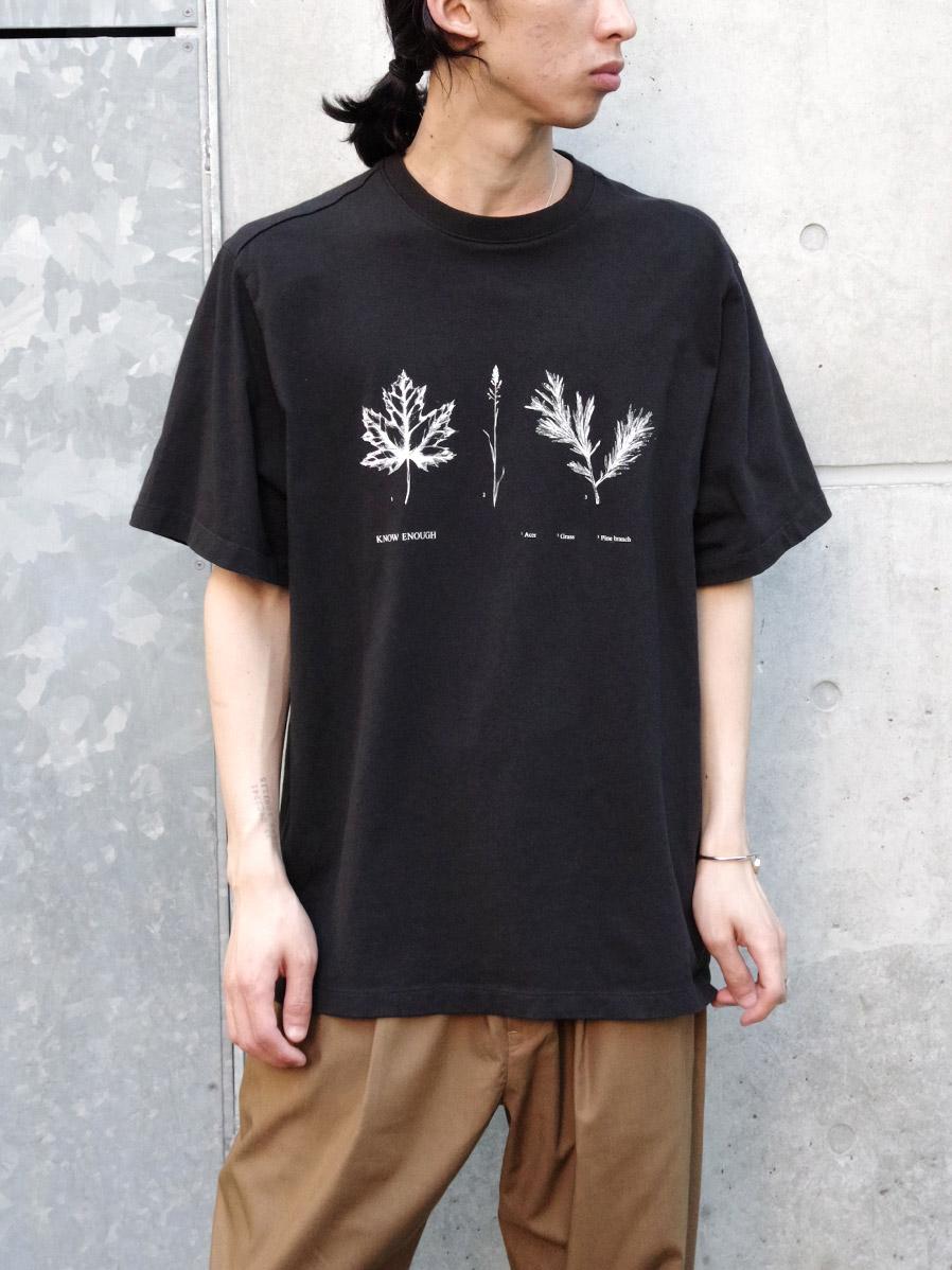 """【21SS】 soe (ソーイ)  """"KNOW ENOUGH"""" H/S Tee-A <Tシャツ/カットソー>"""