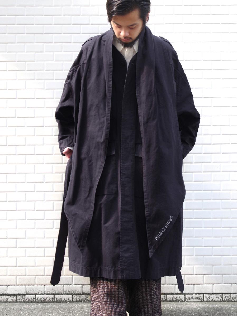 """【19AW】 tac:tac (タクタク)  """"Haoli Military 2way Coat"""" <コート> - BLACK"""