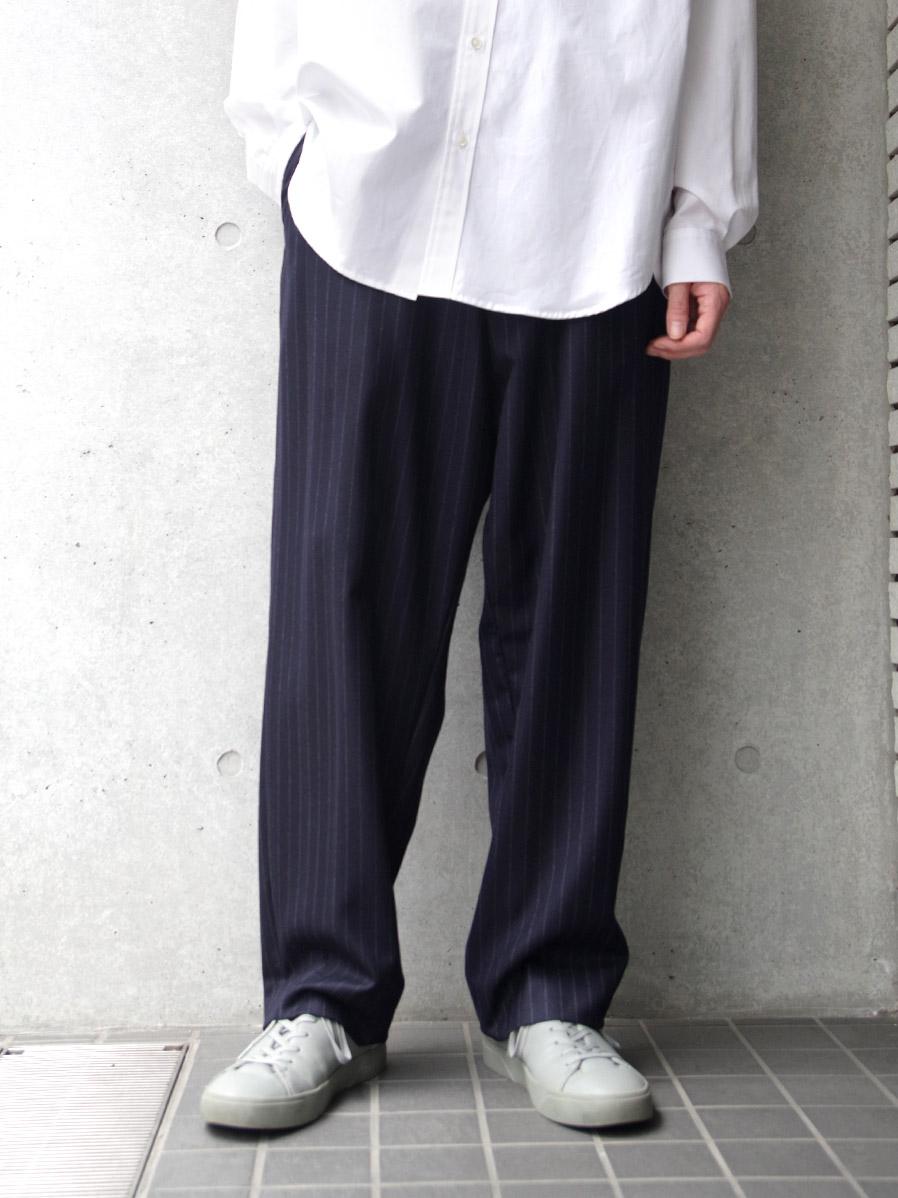 "【20AW】 UJOH (ウジョー)  ""Big Silhouette PNT"" <パンツ/スラックス> - Navy"