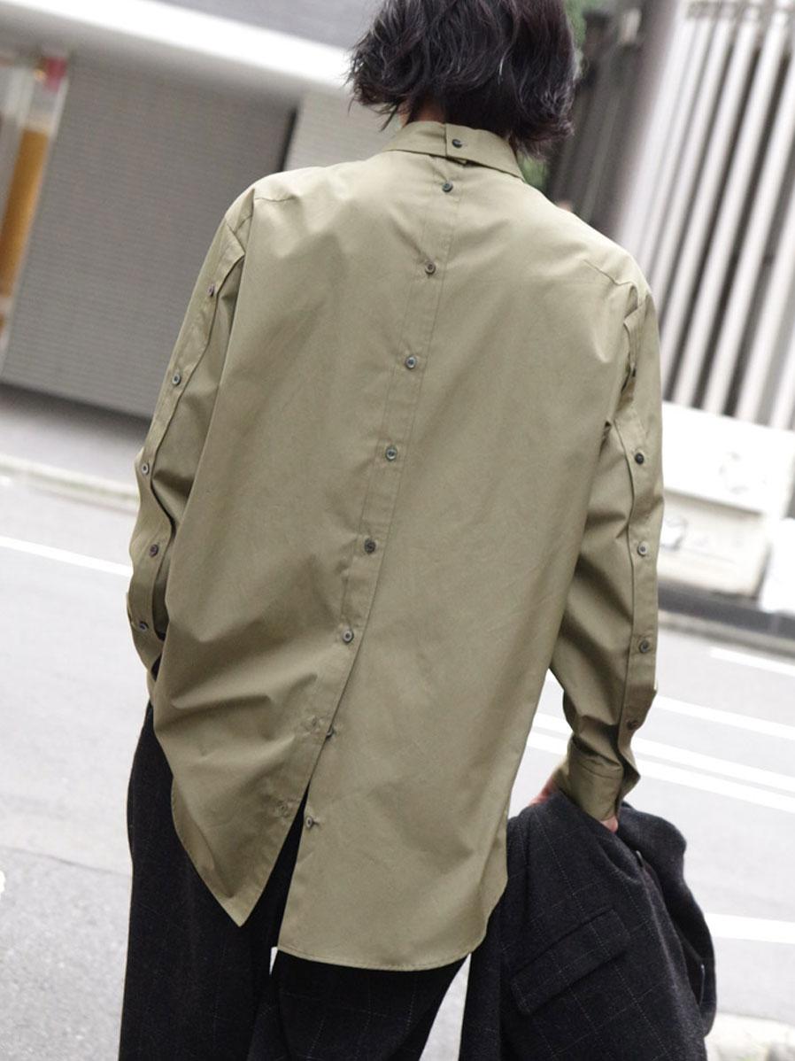 "【20AW】 UJOH (ウジョー)  ""Full Open Shirts"" <シャツ> - Dry Herb"