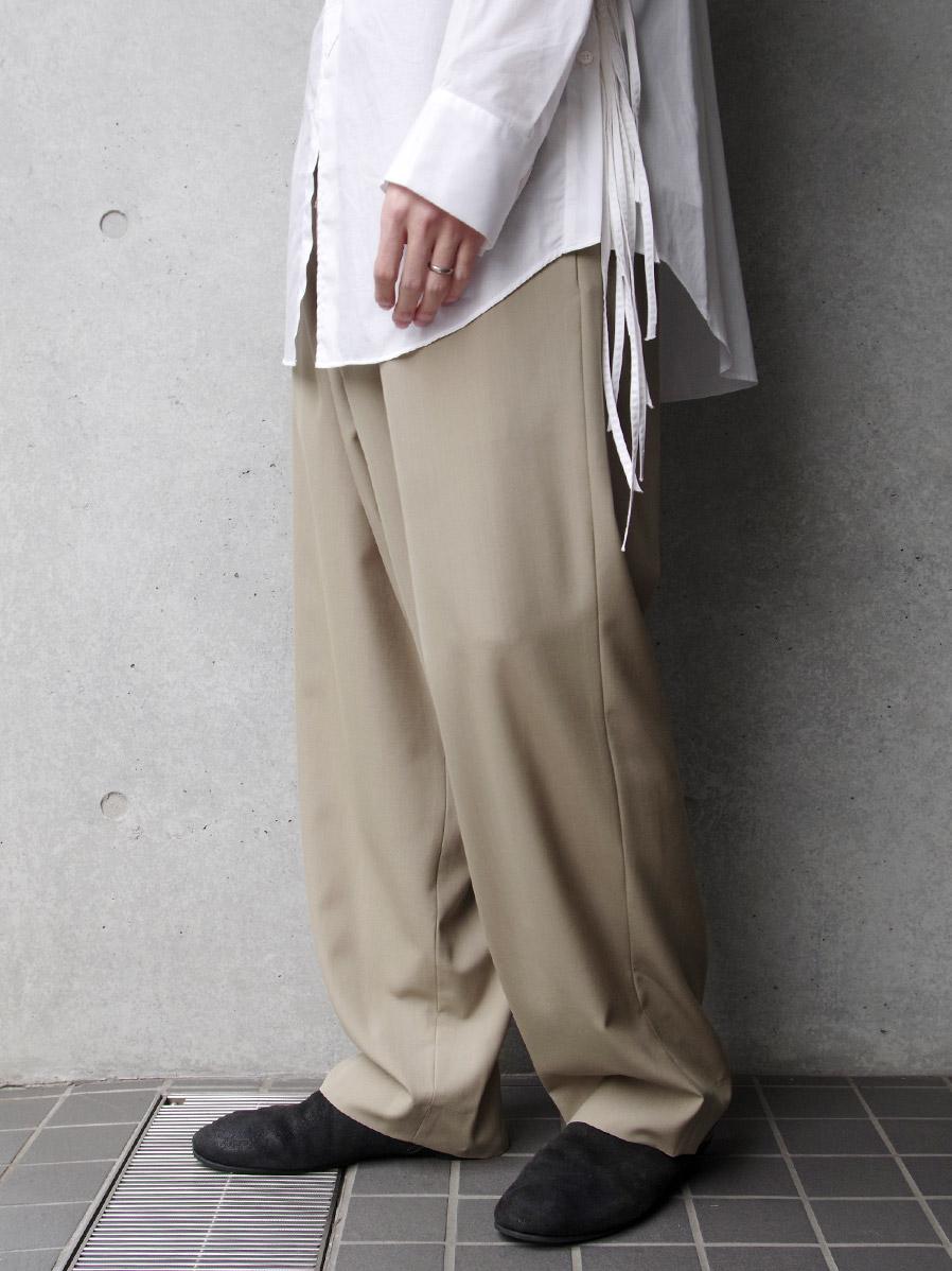 """UJOH (ウジョー)  """"Big Silhouette PNT"""" <パンツ/スラックス> - SAND BEIGE"""