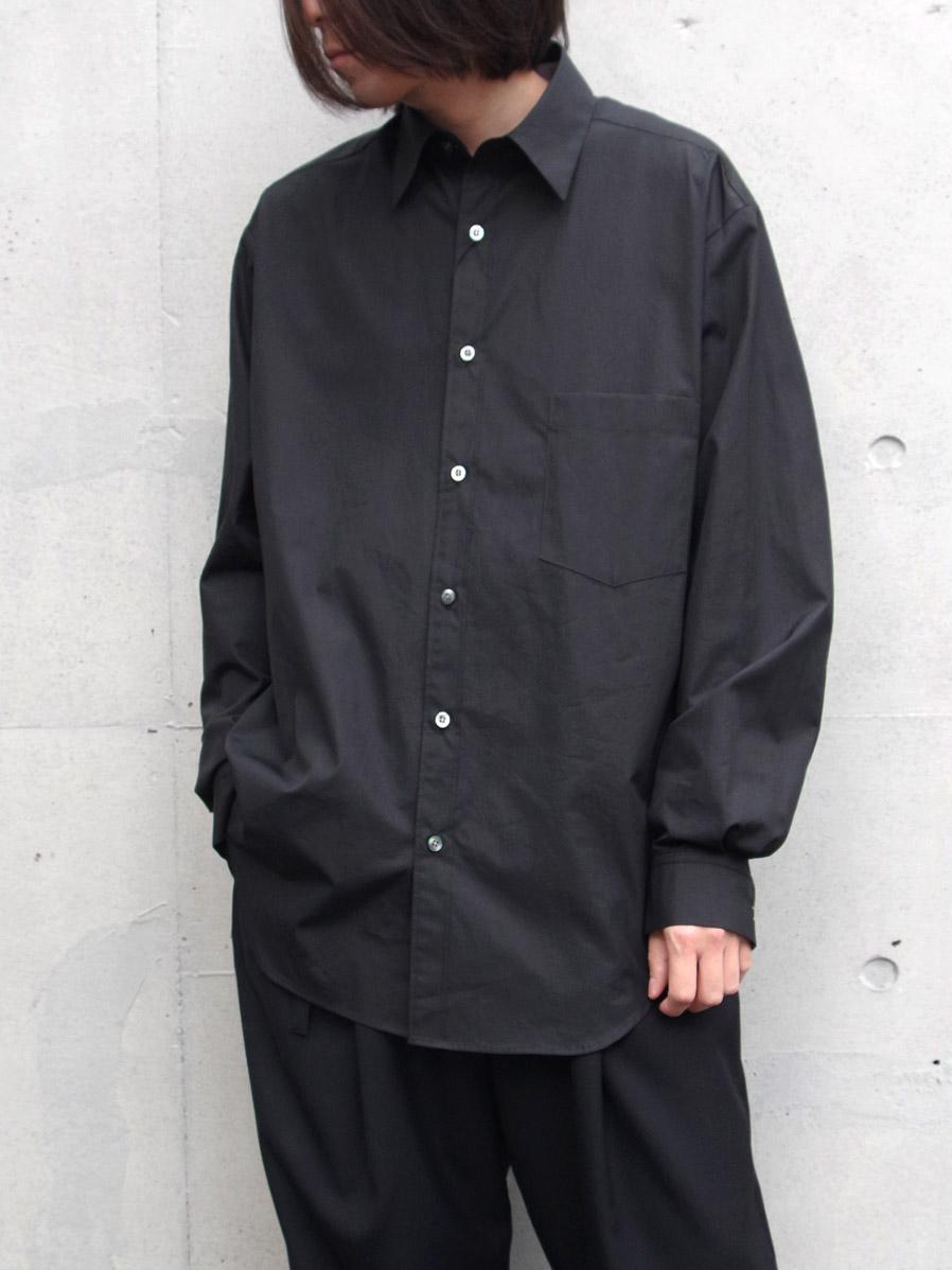 """【20SS】 UJOH (ウジョー)  """"Full Open Shirts"""" <シャツ> - BLACK"""