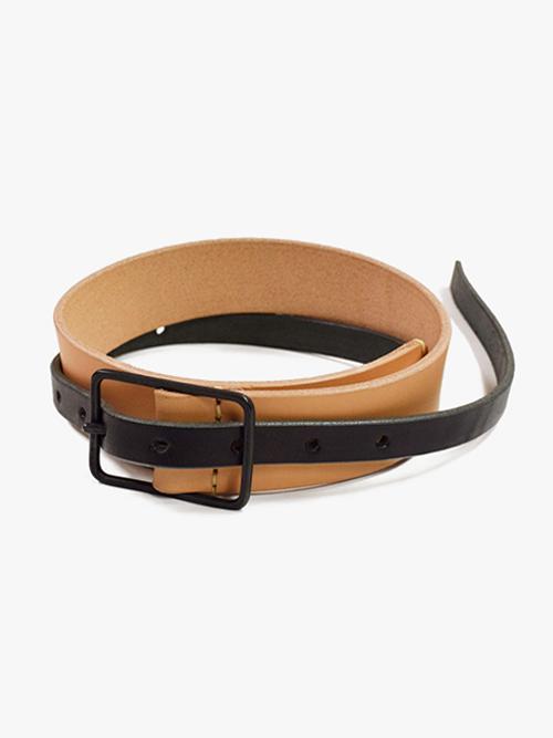 "【18AW】 VOAAOV (ヴォアーブ)  ""leather thin belt"" <レザーロングベルト> - 全2色"