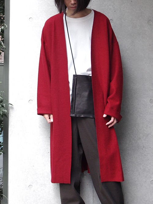 "【18AW】 VOAAOV (ヴォアーブ)  ""long cardigan"" <ニットカーディガン/ガウン> - RED"