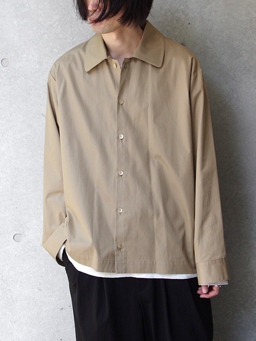 "【18AW】 VOAAOV (ヴォアーブ)  ""wide shirts"" <ワイドシャツ> - BEIGE"