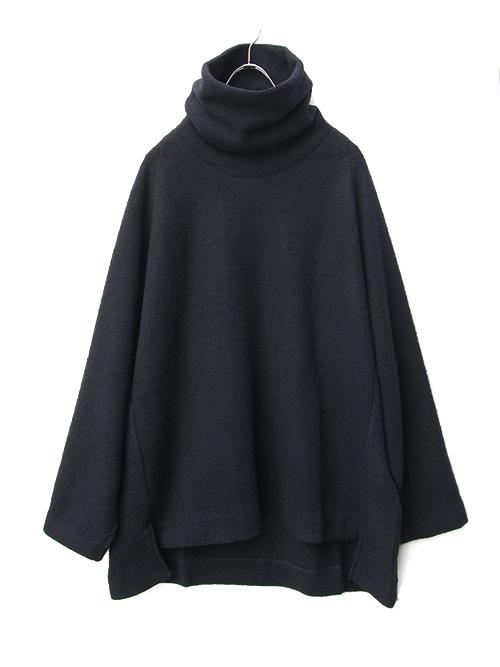 "【18AW】 VOAAOV (ヴォアーブ)  ""high-necked big knit"" <タートルネックニット> -  NAVY(ブラックネイビー系)"