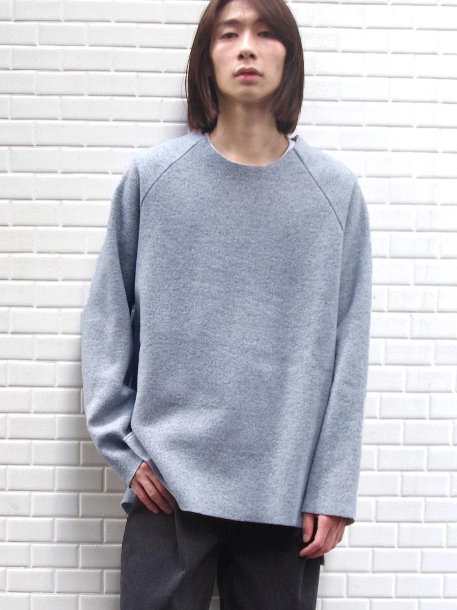 """【19AW】 VOAAOV (ヴォアーブ)  """"wool switching sweat"""" <ニット/スウェット> - BLUE"""