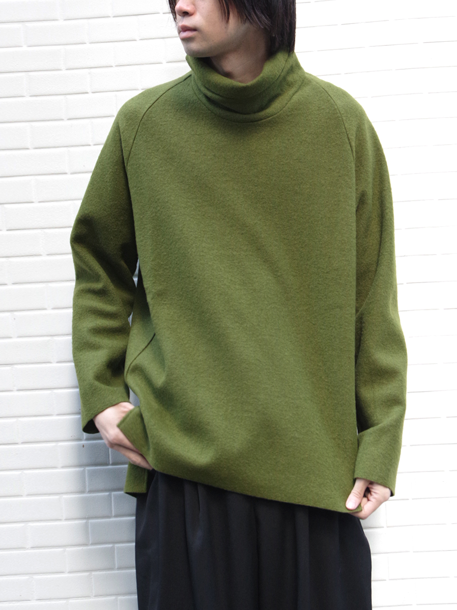 "【19AW】 VOAAOV (ヴォアーブ)  ""wool big high-necked"" <タートルネックニット> - GREEN"