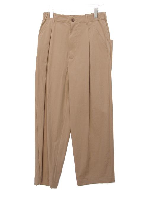 "【19SS】 VOAAOV (ヴォアーブ)  ""box pleats wide pants"" <ワイドパンツ> - BEIGE"