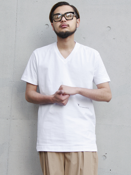 "【19SS】 VOAAOV (ヴォアーブ)  ""V-neck tee"" <VネックTシャツ> - WHITE"