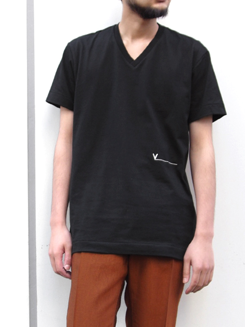 "【SALE】 VOAAOV (ヴォアーブ)  ""V-neck tee"" <VネックTシャツ> - BLACK"