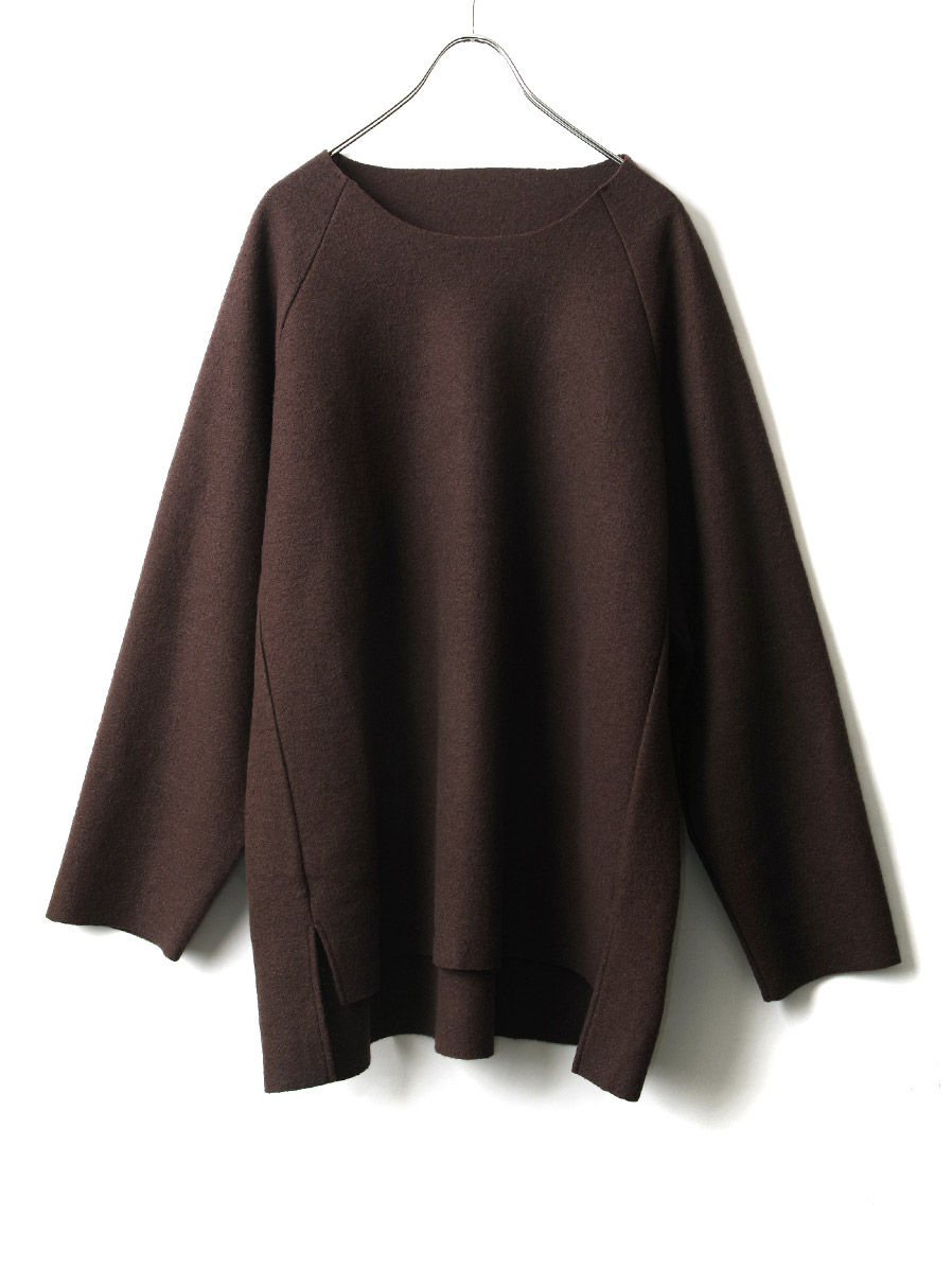 "【20AW】 VOAAOV (ヴォアーブ)  ""COMPRESSED WOOL JERSEY SWEAT "" <スウェット> - BROWN"