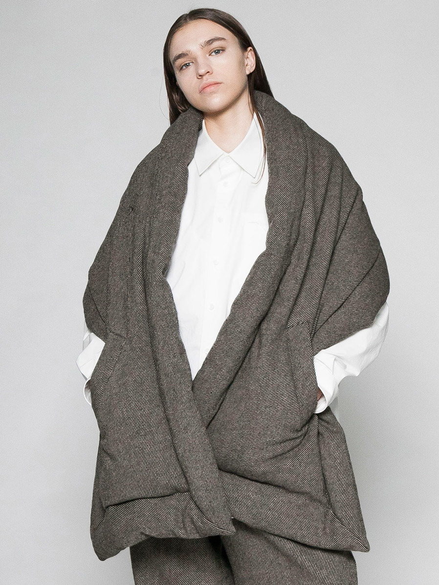 "【20AW】 VOAAOV (ヴォアーブ)  ""TUMBLER TWEED DOWN STOLE"" <ダウンストール>"