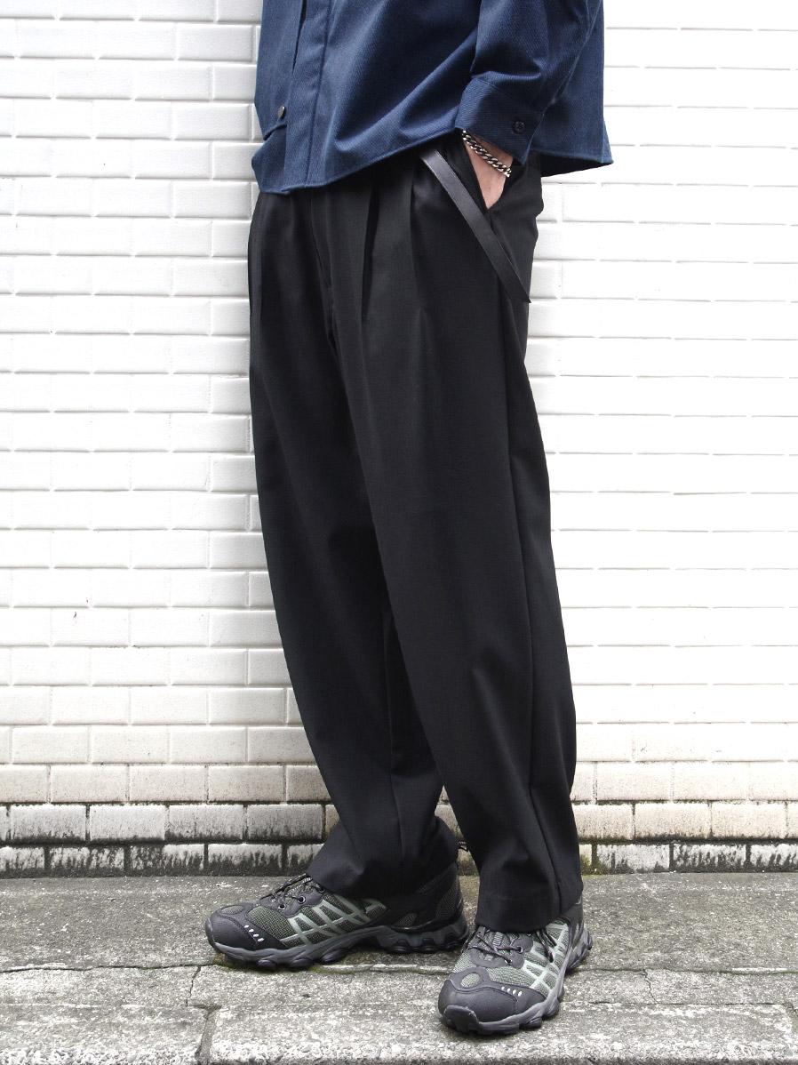 "【20AW】 VOAAOV (ヴォアーブ)  ""washable wool wide pants"" <パンツ> - BLACK"