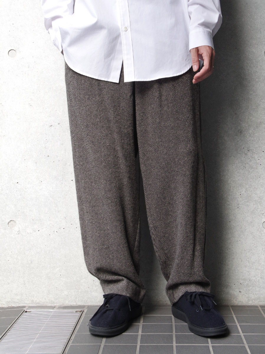 "【20AW】 VOAAOV (ヴォアーブ)  ""TUMBLER TWEED WIDE PANTS"" <パンツ>"