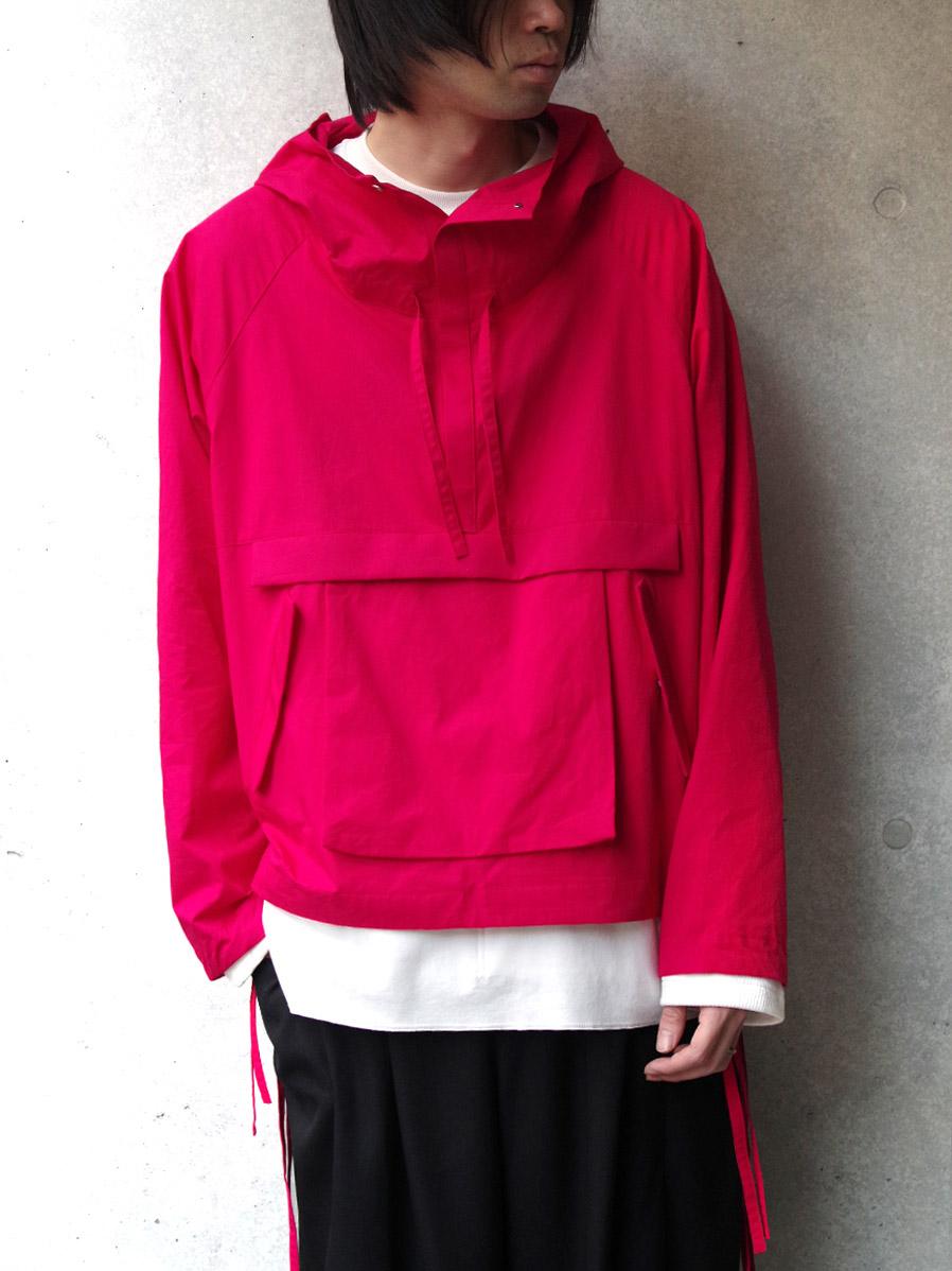 """【20SS】 VOAAOV (ヴォアーブ)  """"cotton anorak"""" <アノラックブルゾン> - PINK"""