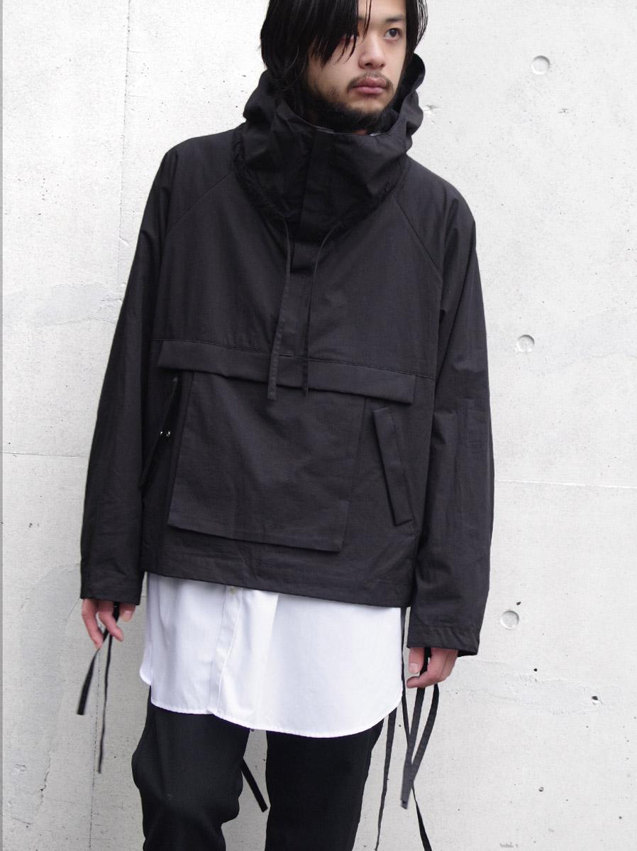 """【20SS】 VOAAOV (ヴォアーブ)  """"cotton anorak"""" <アノラックブルゾン> - BLACK"""
