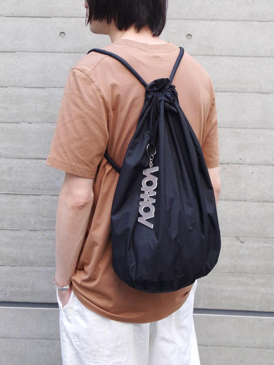 "VOAAOV (ヴォアーブ)  ""nylon knapsack"" <バッグ> - BLACK"