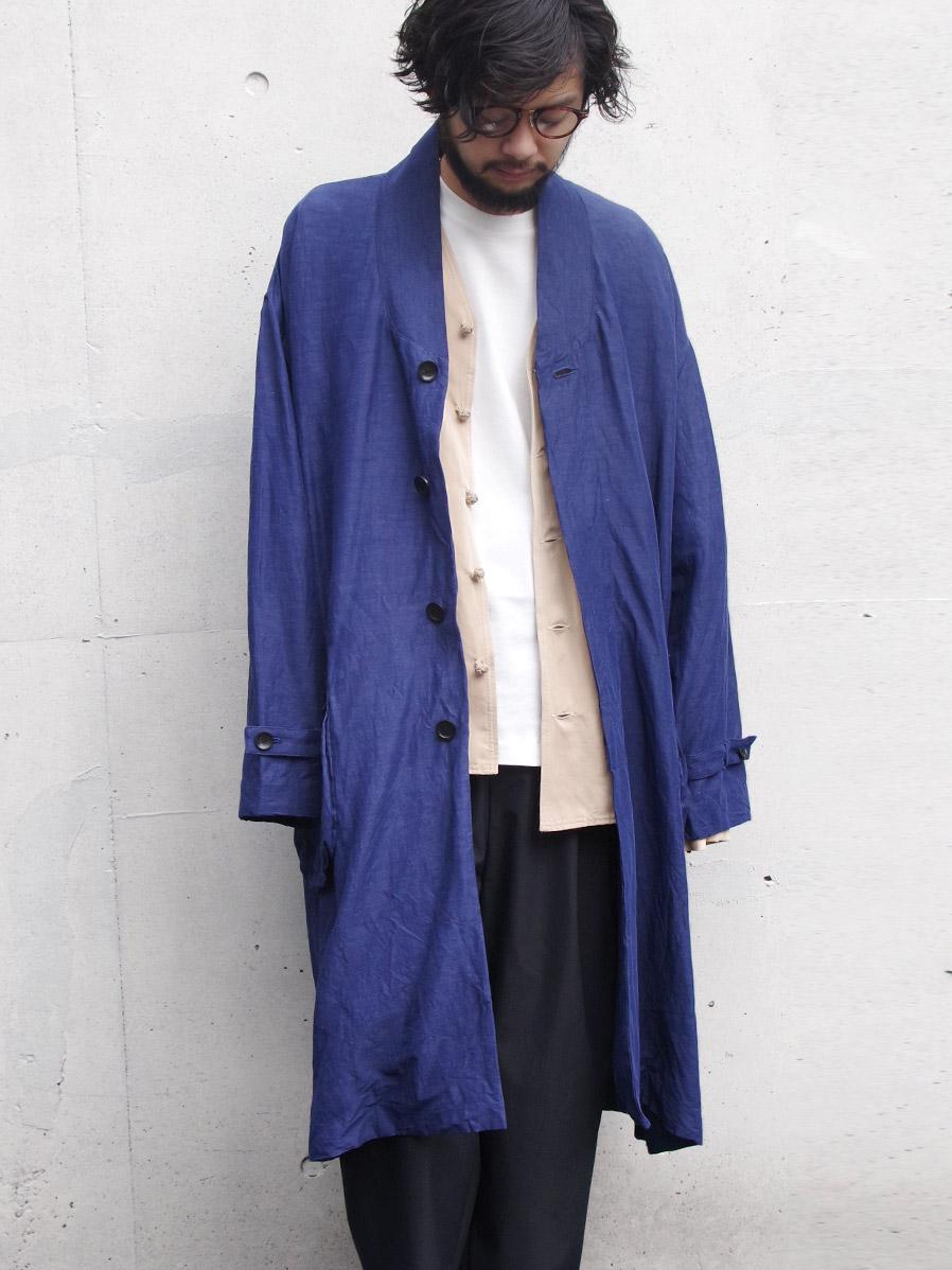 "【20SS】 VOAAOV (ヴォアーブ)  ""linen rayon big coat"" <コート>"