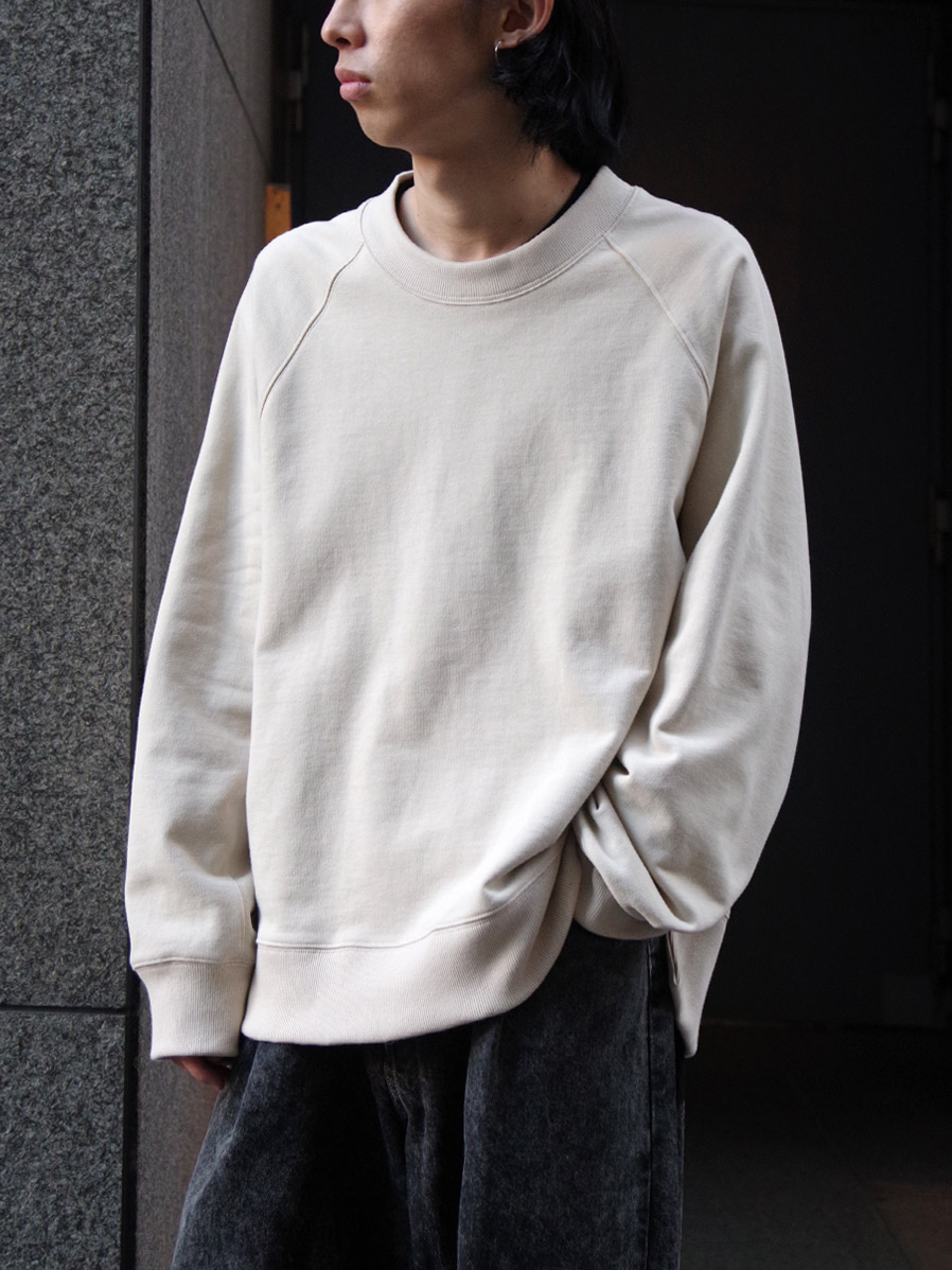 """【21SS】 VOAAOV (ヴォアーブ)  """"PILE SHAPE KNITTED SWEAT""""  <スウェット> - BEIGE"""