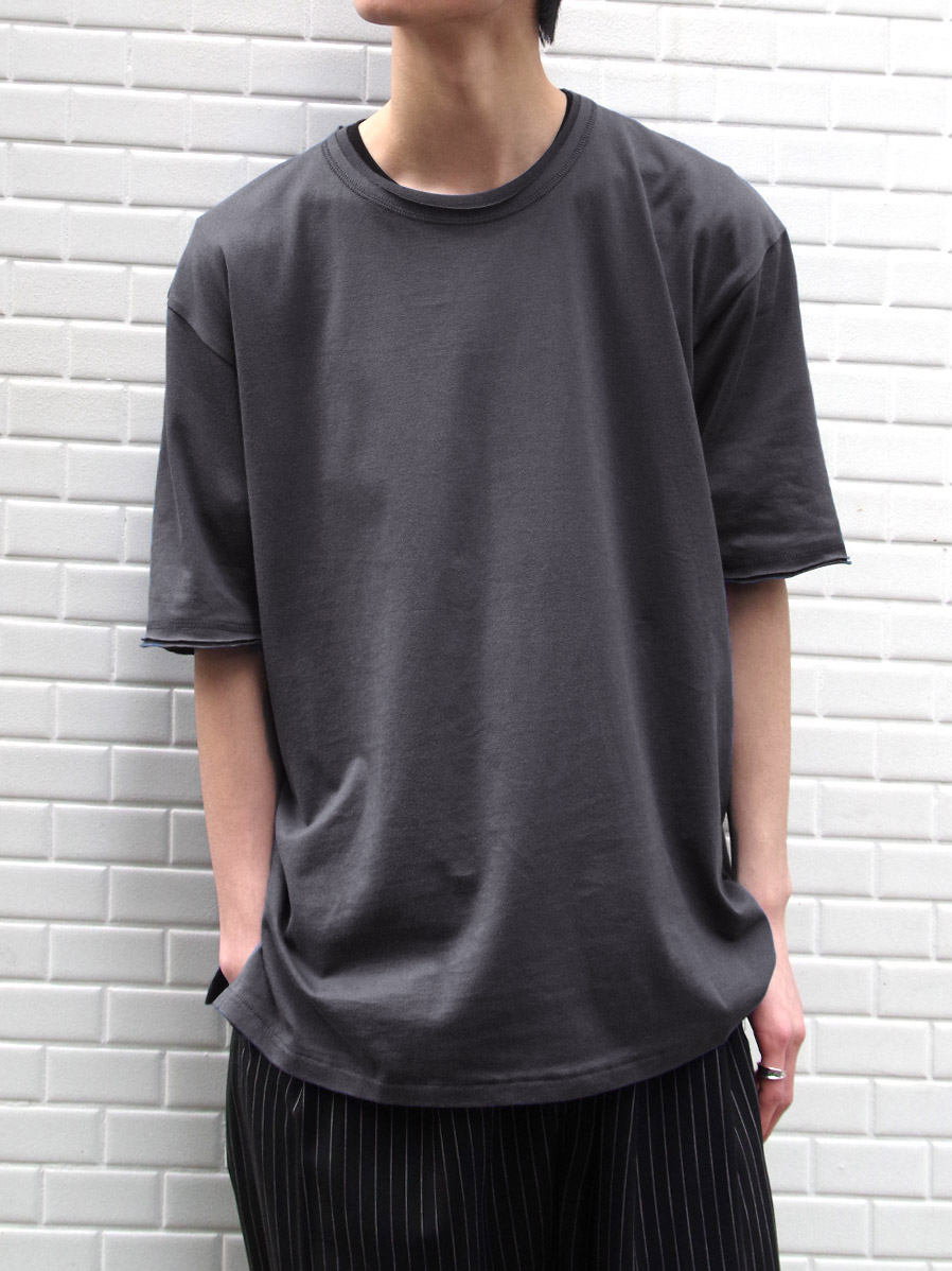 """【2020AW】 wizzard (ウィザード)  """"BASIC PLAIN T-SHIRT"""" <カットソー> - CHARCOAL"""