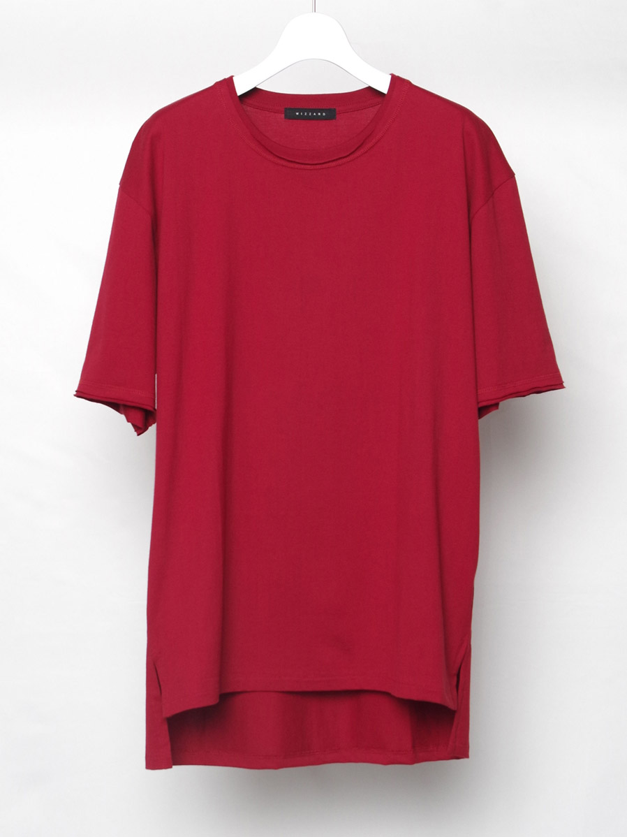 """【2020AW】 wizzard (ウィザード)  """"BASIC PLAIN T-SHIRT"""" <カットソー> - RED"""