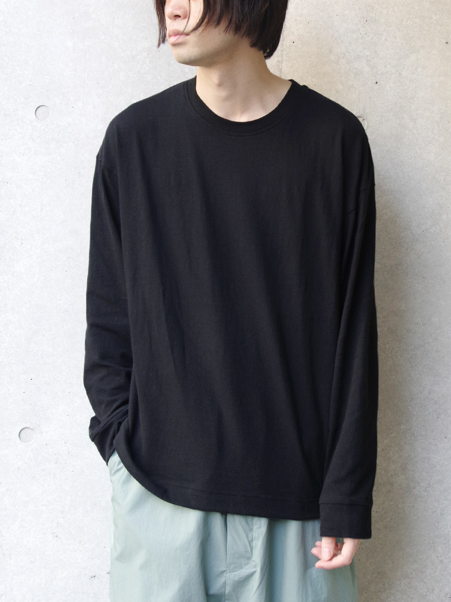 "【2020SS】 wizzard (ウィザード)  ""PANEL LONG SLEEVE T-SHIRT"" <カットソー> - BLACK"