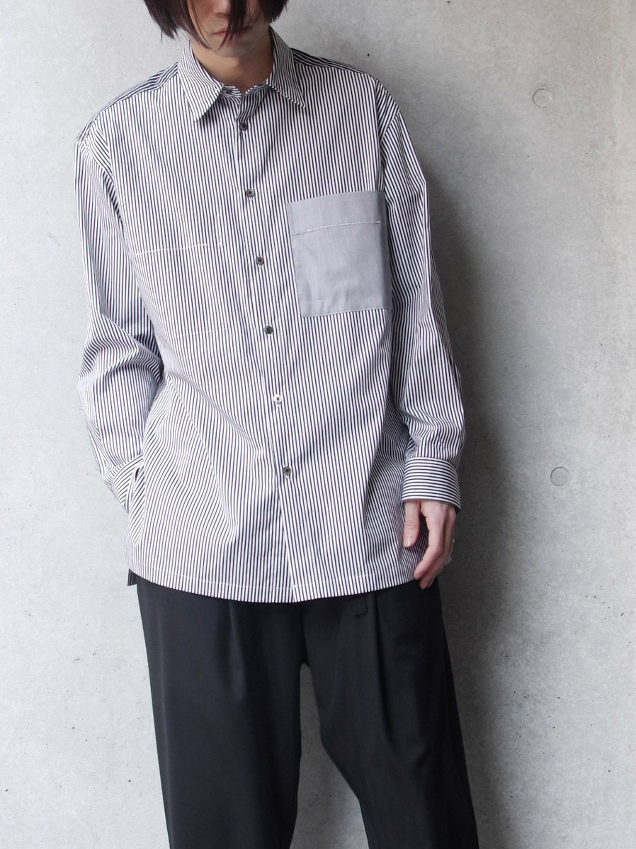 "【SALE:2020SS】 wizzard (ウィザード)  ""COMBINATION STRIPE SHIRT"" <シャツ>"