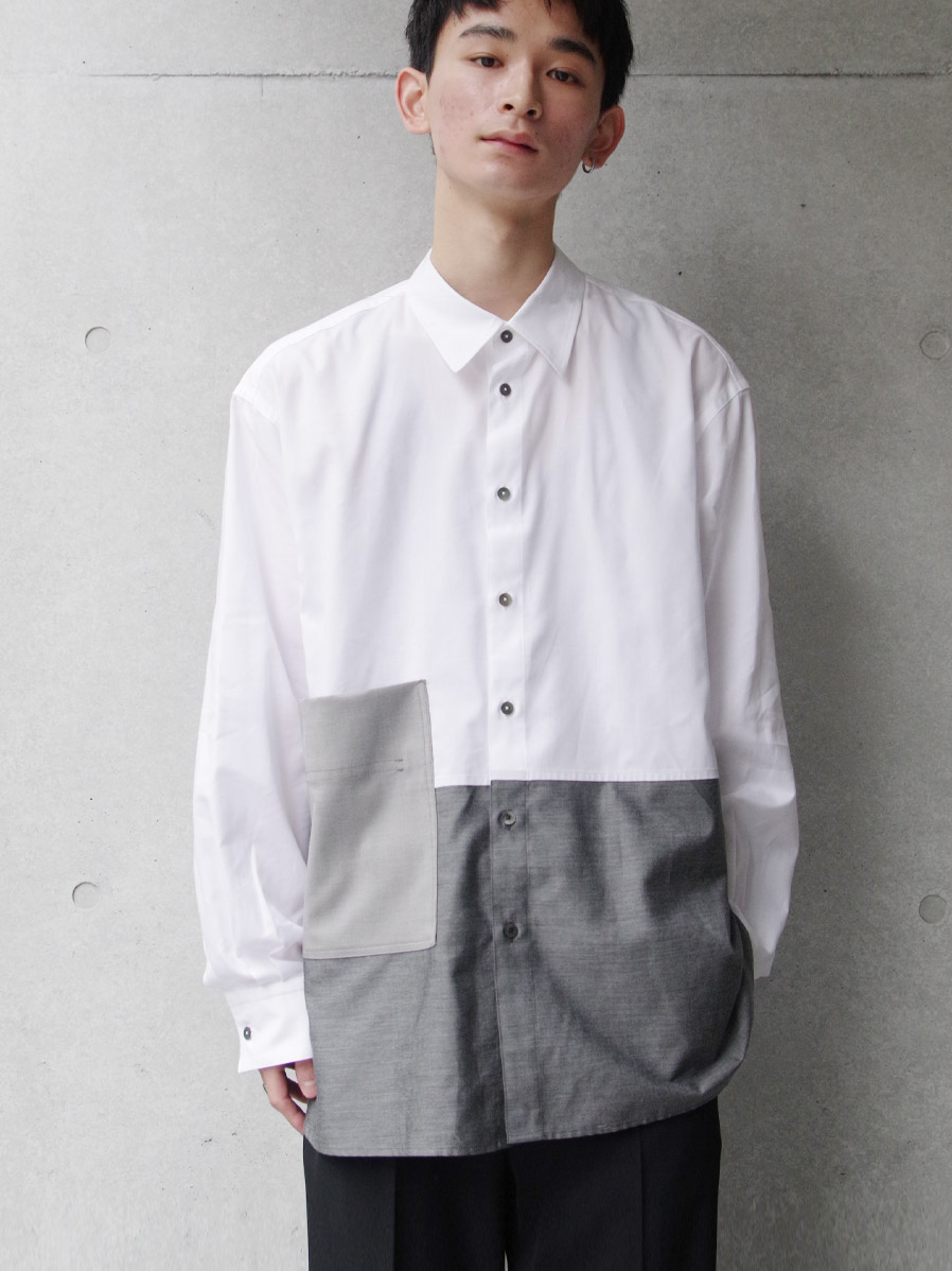 "【2020SS】 wizzard (ウィザード)  ""BICOLOR SHIRT"" <シャツ>"