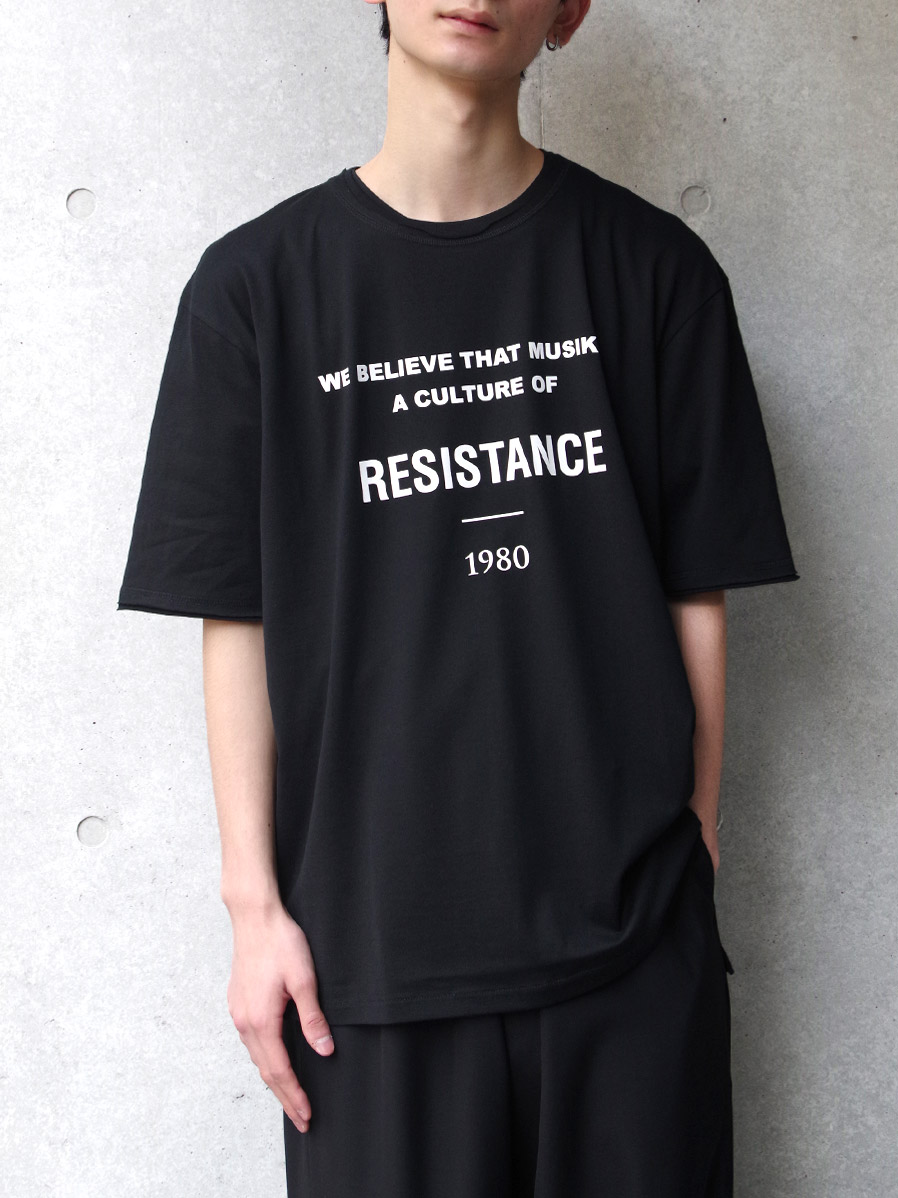 """【2020SS】 wizzard (ウィザード)  """"GRAPHIC T-SHIRT """"RESISTANCE"""" <カットソー>"""