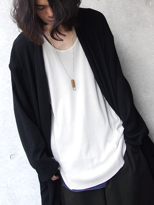 """wizzard (ウィザード)  """"LONG TANK TOP"""" - WHITE <ロングタンクトップ>"""