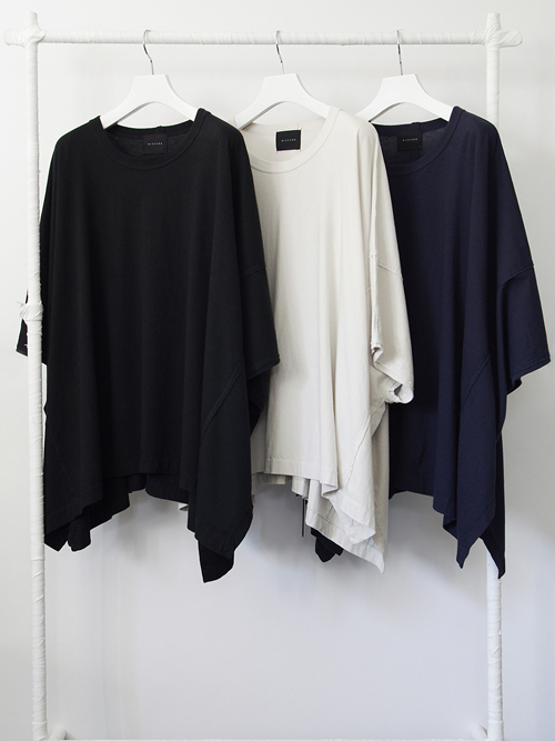"【18SS】 wizzard (ウィザード)  ""WIDE CUTSEW"" <カットソー> - BLACK"