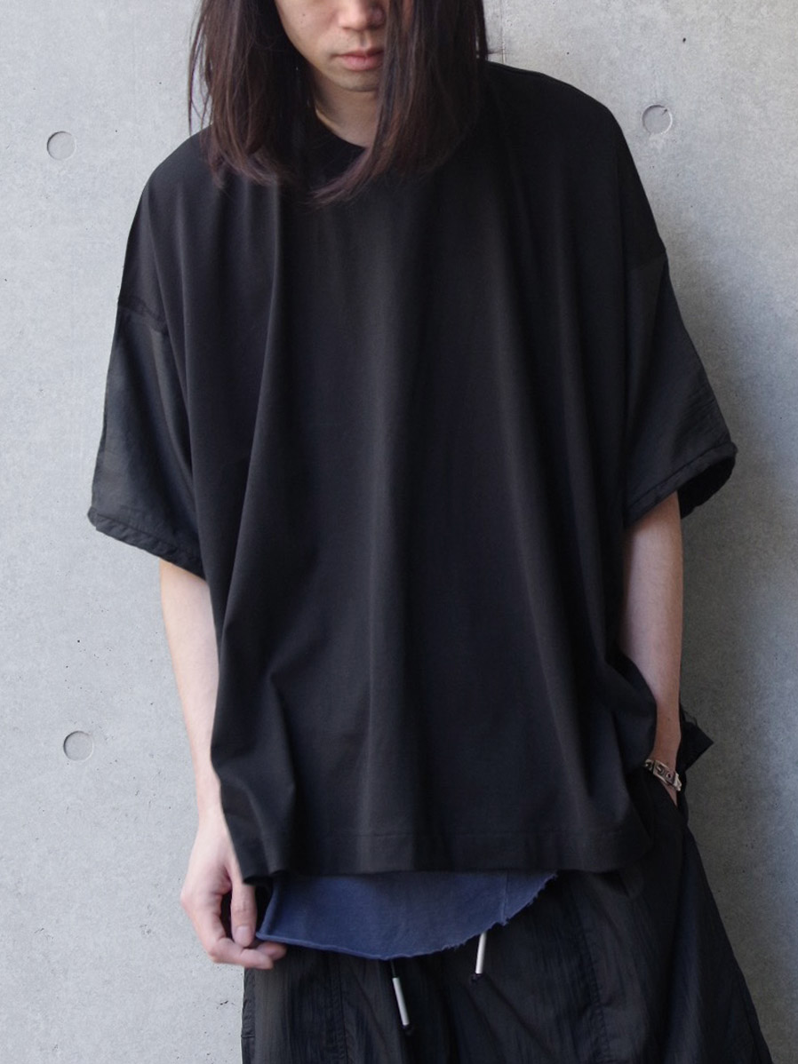 "wizzard (ウィザード)  ""DOCKING WIDE CUTSEW 19SS"" <カットソー> - BLACK×BLACK"