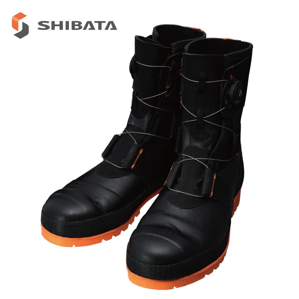 Safety Boots SB3004 (Black/Orange) CE / 安全長靴 SB3004(ブラック/オレンジ) CE (メンズ)
