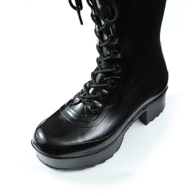 DL304 エコブーツ厚底(ブラック)