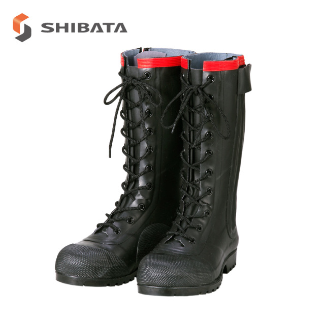 Antistatic Boots AE030 Rubber Safety Lace-up Boots Conductive Type / 静電気帯電防止長靴 AE030 安全編上長靴 導電タイプ (メンズ)